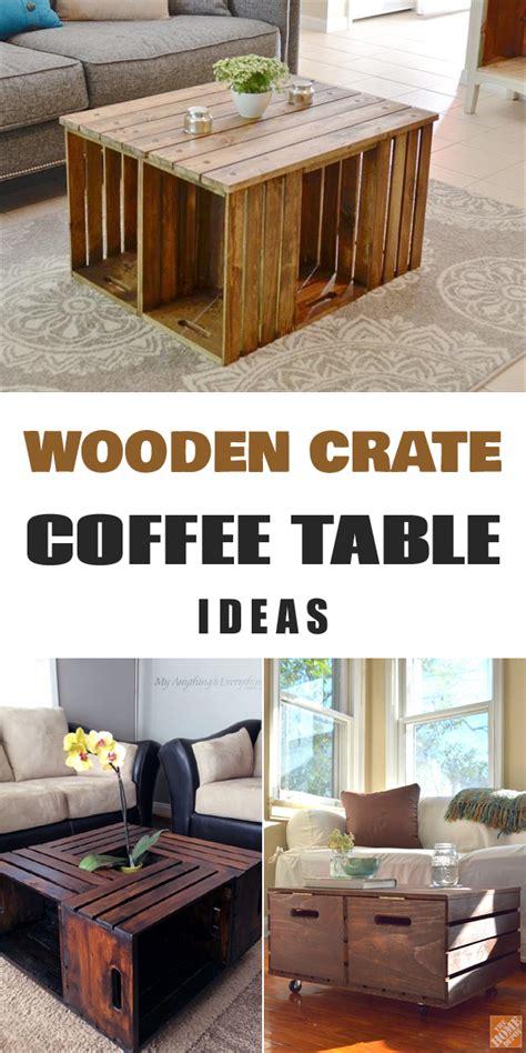 Coffee Table Diy Ideas 11 Diy Wooden Crate Coffee Table Ideas