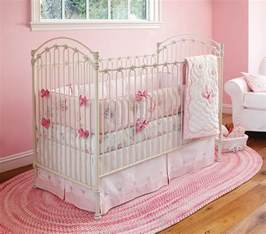 nice pink bedding for pretty baby nursery from prottery barn kidsomania