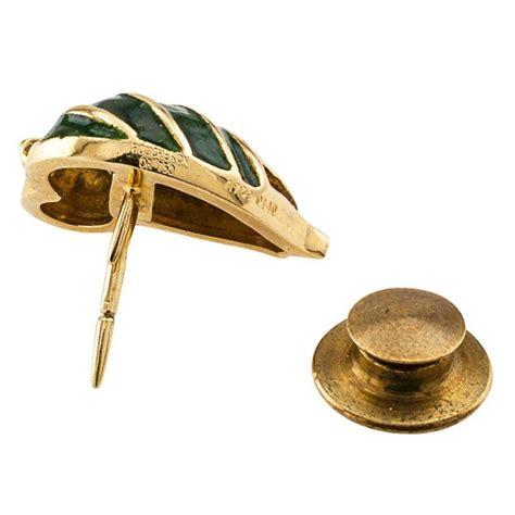 boucheron enamel gold tie tack lapel pin for sale at 1stdibs