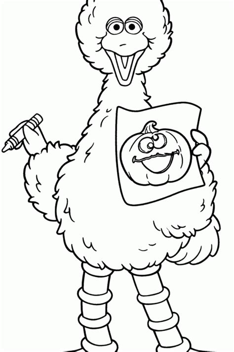 Big Bird Printable Coloring Pages