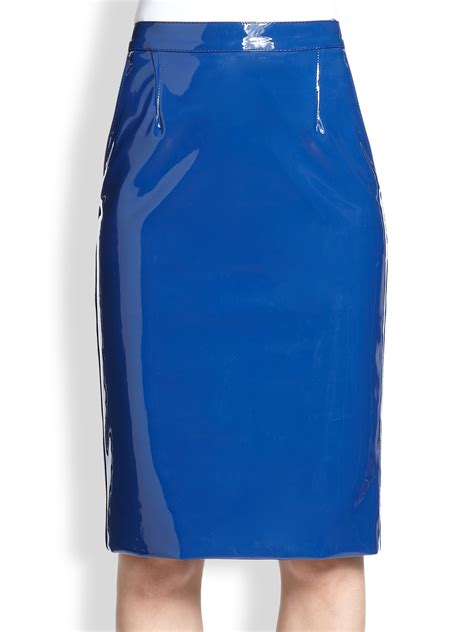 marc by marc emi faux patent leather pencil skirt