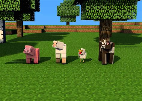tame wolves ocelots horses cows pigs  minecraft