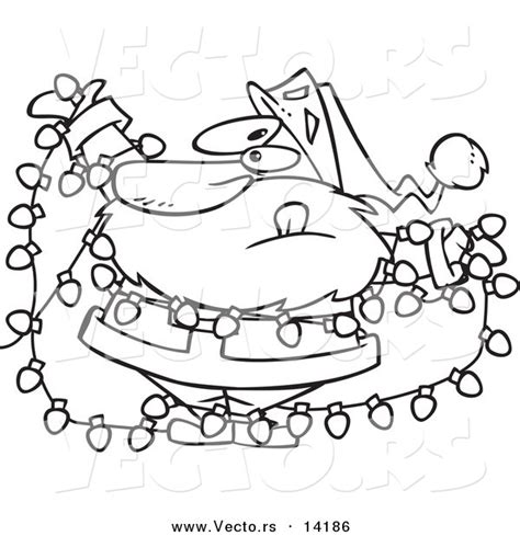 christ mas one drawing photo tangled lights clipart 20