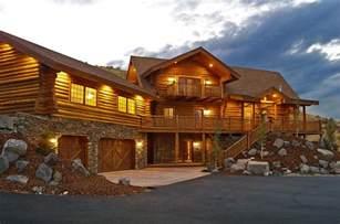Log Cabin House Manufactured Log Homes Yellowstone Log Homes