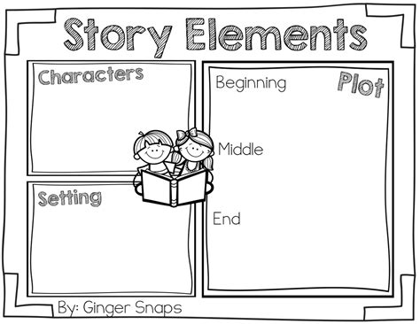 story structure worksheets story elements freebie snaps treats for teachers story elements graphic organizers