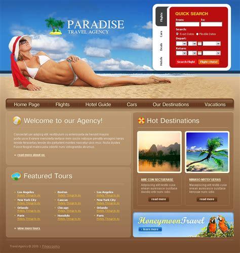 Travel Agency Website Template 23864 Travel Website Templates