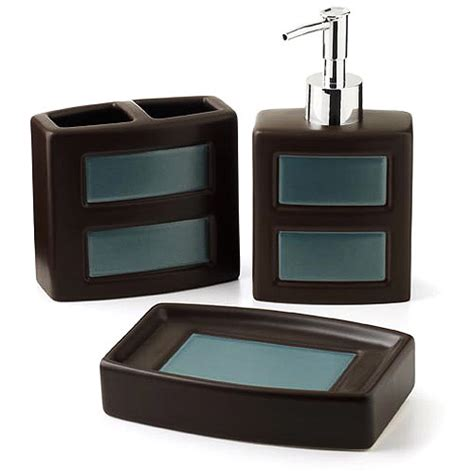 hometrends gridlock 3 piece bath accessories set walmart com
