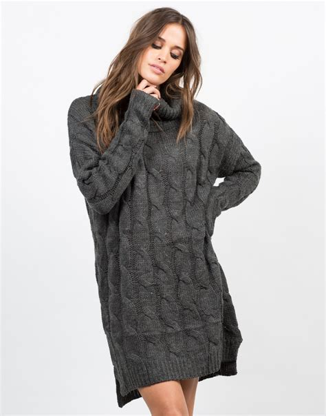 Sweater Dresses by Chunky Turtleneck Sweater Dress Day Dress 2020ave