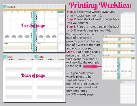 printable home planner pages the polka dot posie how to print assemble our small