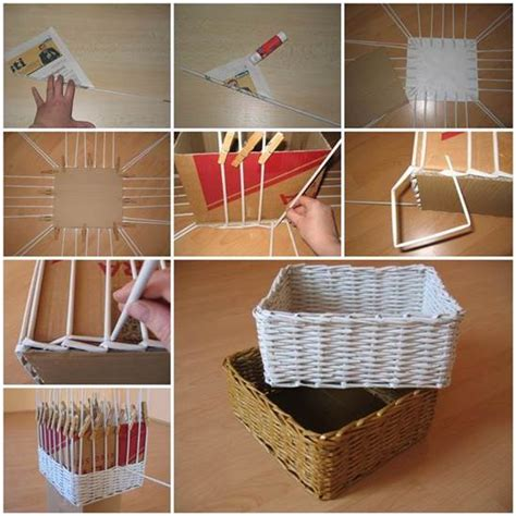 diy storage box diy woven paper storage box