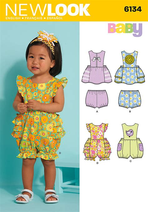 pattern review best of 2012 new look 6134 babies dress and romper