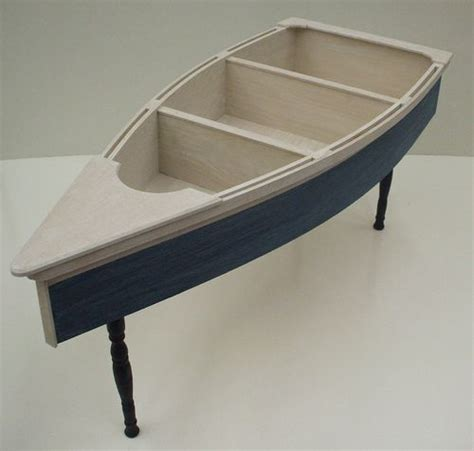 4 foot row boat nautical coffee table skiff schooner canoe