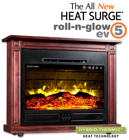 amish electric fireplace insert heat surge roll n glow ev5 amish electric fireplace 4 606 btu cherry ebay