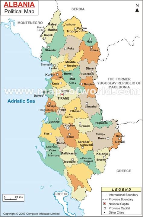 albania political map political map of albania 2008