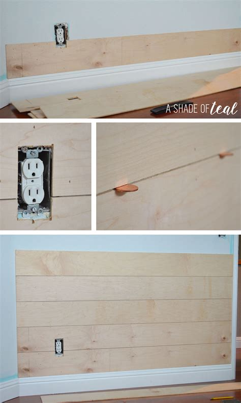 How To Add Shiplap To Walls Faux Shiplap A Shade Of Teal