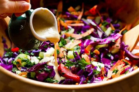 Detox Salad With Tahini Dressing Cabage Romaine by Best 25 The Rainbow Ideas On The