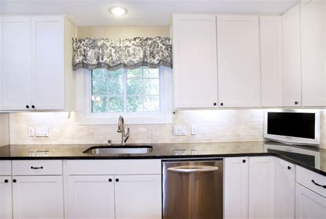 Black Island Kitchen by Transitional White Kitchen Shaker Style Cabinets