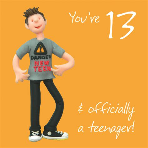 Birthday Cards For 13 Year Boy Boys 13th Birthday Greeting Card Cards Love Kates