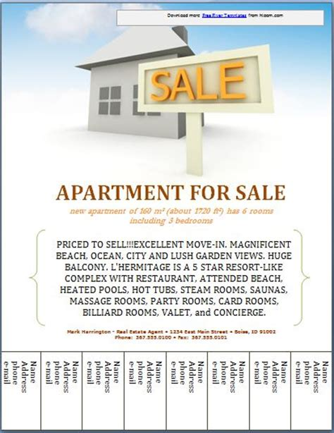sle real estate poster template formal word templates