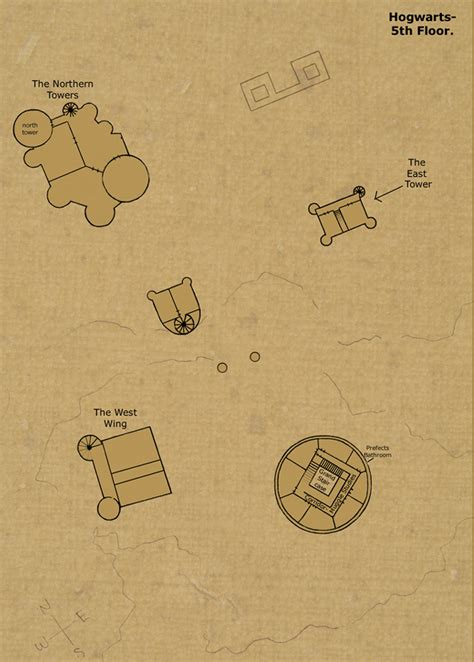 Map Of Hogwarts Castle All Floors by 5th Floor By Hogwarts Castle On Deviantart