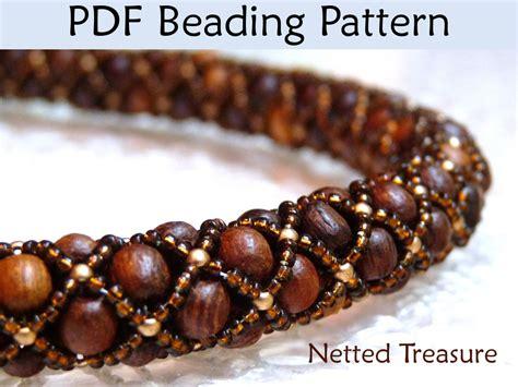 net stitch beading beading pattern tutorial bracelet necklace tubular