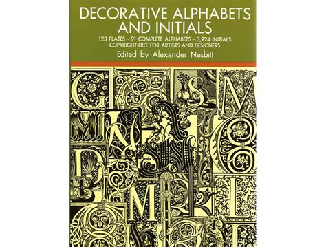 Decorative Alphabets And Initials nesbitt decorative alphabets and initials alec tiranti