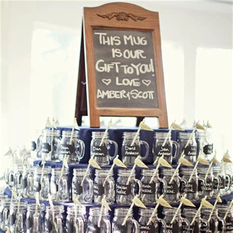 Mason Jar Wedding Giveaways - glasses mason jar mugs as wedding favors do people actually take them home