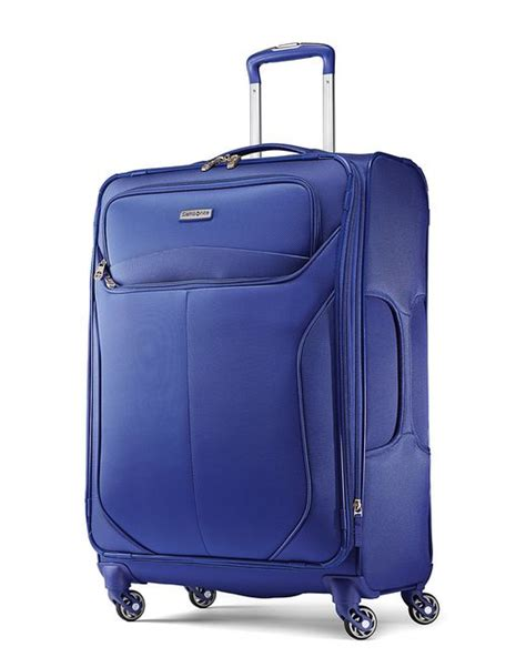 Spinner Polos Packing samsonite lift two 25 inch softside spinner suitcase in blue for save 60 lyst