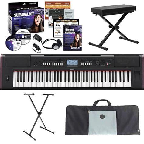 Keyboard Yamaha Piaggero Np V80 yamaha piaggero np v80 value bundle b h photo