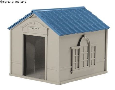 suncast dog house suncast dog house indoor outdoor durable shelter pet extra large plastic cheap ebay