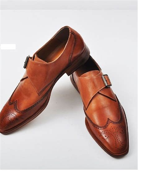 Handmade Dress Boots - handmade color dress shoes mens leather monk shoes