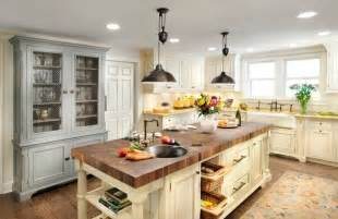 country kitchen designs with islands 20 exles of stylish butcher block countertops