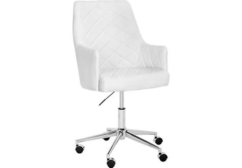 Chase Place White Desk Chair Office Chairs White White Desk Chair