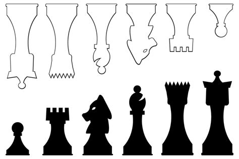 chess board template printable template for chess pieces crafts printabes