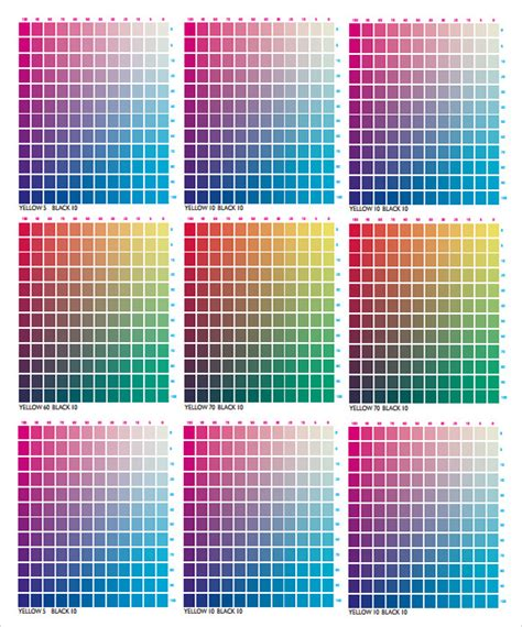 cmyk color chart 9 sle cmyk color chart templates pdf sle templates