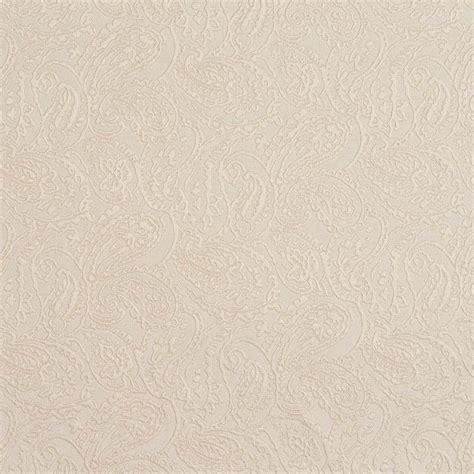 Upholstery Fabric Yardage Chart Ivory White Paisley Jacquard Woven Upholstery Grade