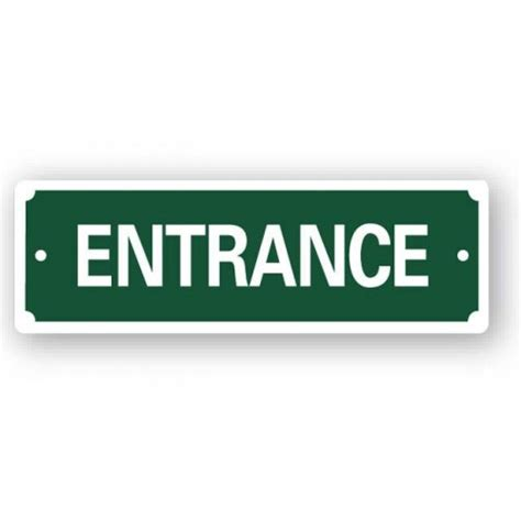 Entryway Signs entrance sign 200x65mm