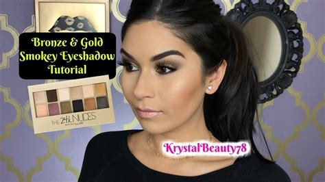 Maybelline 24k bronze and gold smokey eyeshadow tutorial i