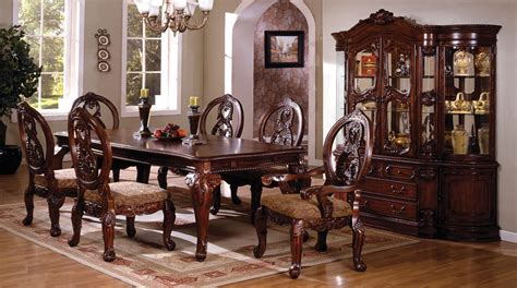 Formal Dining Room Table Sets Dining Room 7pc Dining Set Formal Dining Table Chairs Antique Cherry Finish Home Ebay