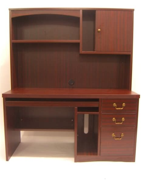 mahogany computer desk with optional hutch ofco office