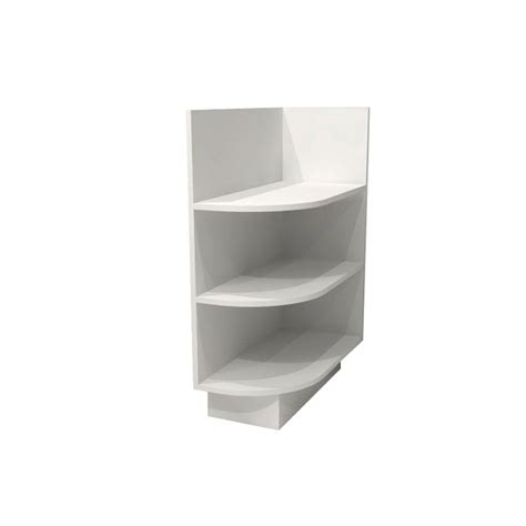 kitchen cabinet end shelf home decorators collection pacific white assembled 12x34