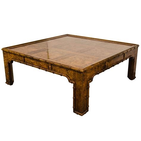 bamboo coffee table a faux bamboo coffee table at 1stdibs