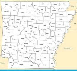 us map arkansas state a large detailed arkansas state county map
