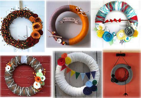 Handmade Wreaths Ideas - gifts yarn wreath thelifeoflulubelle