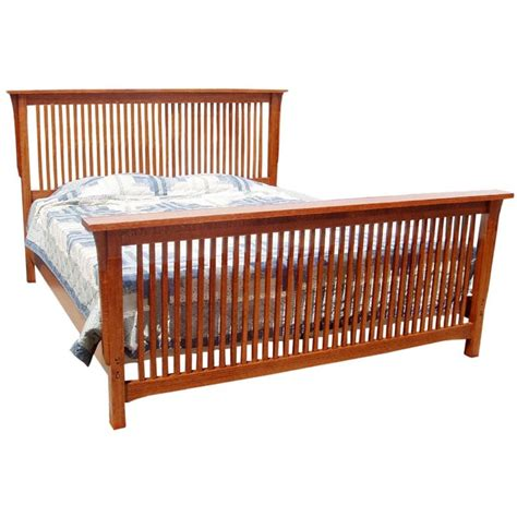 spindle bed trend manor queen mission spindle bed
