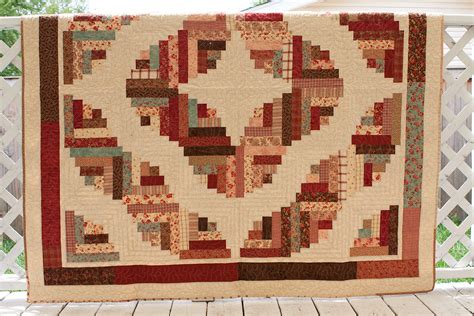 curved log cabin quilt by redcabinquilter on etsy