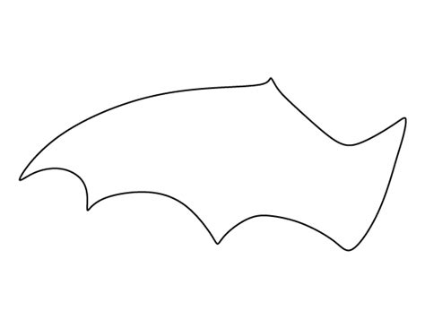 wings template free bat wing pattern use the printable outline for crafts