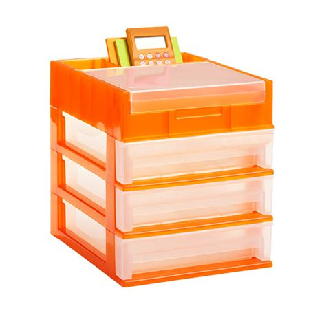 3 drawer desktop organizer the container store