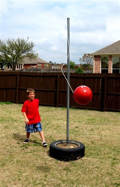 how to make a tetherball inexspensive backyard