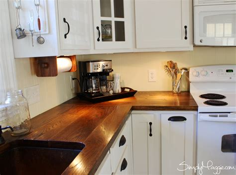 Kitchens With Different Colored Islands diy wide plank butcher block counter tops simplymaggie com